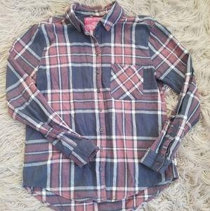 Mauve & Blue Flannel Shirt/Button down